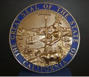 California Seal with rim color