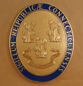 Connecticut Seal with rim color