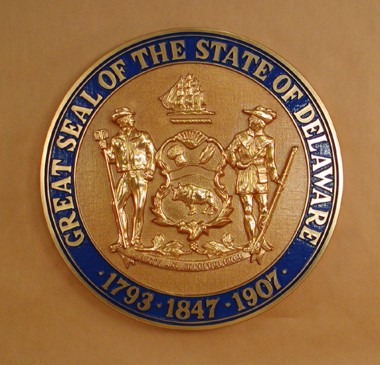 Delaware Seal with rim color