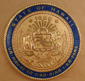 Hawaii Seal with rim color
