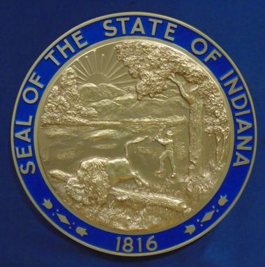 Indiana Seal with rim color