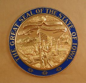 Iowa Seal with rim color