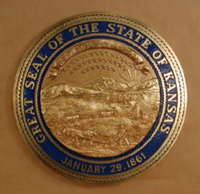 Kansas Seal with rim color
