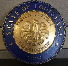 Louisiana Seal with rim color