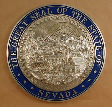 Nevada Seal Silver Ox with Rim Color