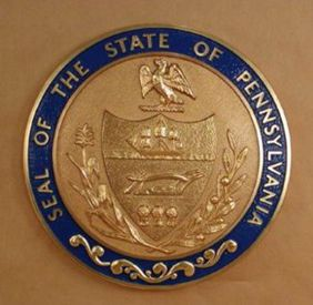 Pennsylvania Seal with rim color