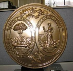 South Carolina Seal Golden Bronze Ox