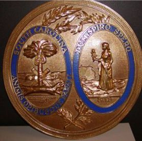 South Carolina Seal Golden Bronze Ox with Rim Color