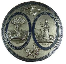 South Carolina Seal Silver Ox with Rim Color