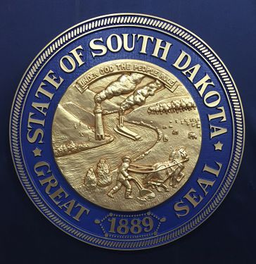 South Dakota Seal Bronze Ox with Rim Color