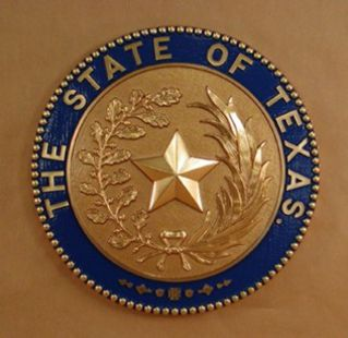 Texas Seal with rim color