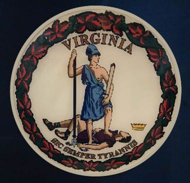 "Virginia Seal 15"" Unmounted Butyrate Full Color Seal"