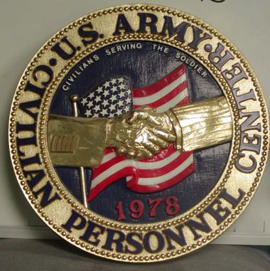 "USA Civilian Personnel Center_ 15"" Seal"
