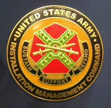 "U.S.Army Installation Management Command_ 15"" Seal"