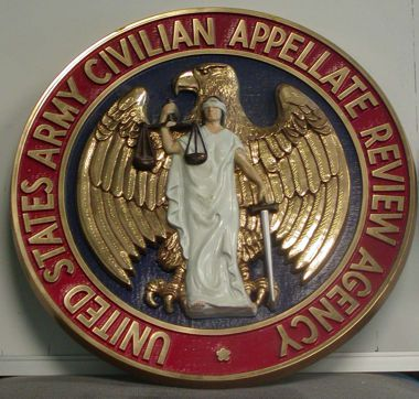 "USA Civilian Appelate Review Agency_ 15"" Seal"