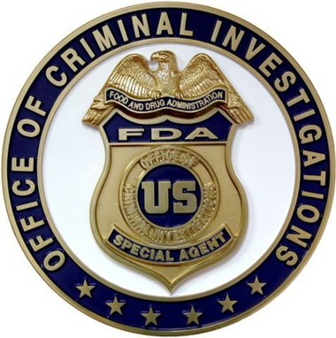 DHHS_FDA Office of Criminal Investigation Special Agent Badge