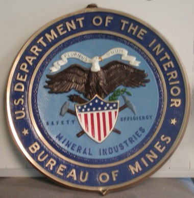 Department of Interior Seal   Bureau of MinesDepartment Of Interior Seal
