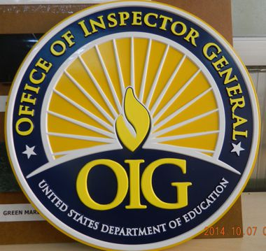 "Department of Education_Office of Inspector General | 15"" Full Color Seal"
