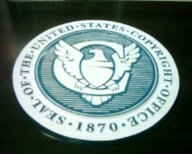 "US Copyright Office | 15"" Full Color Seal"