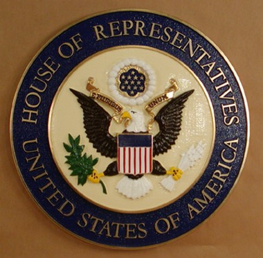 "U.S. House of Representatives 15"" Full Color Seal"