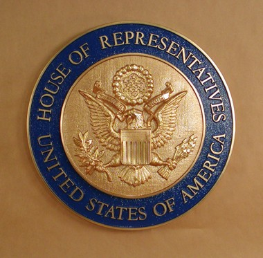 "U.S. House of Representatives 15"" Seal with rim color"