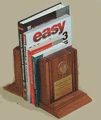 5000 Series walnut bookends.